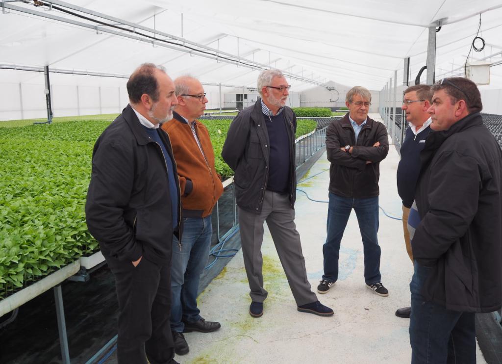 visita consejero agricultura cristalplant
