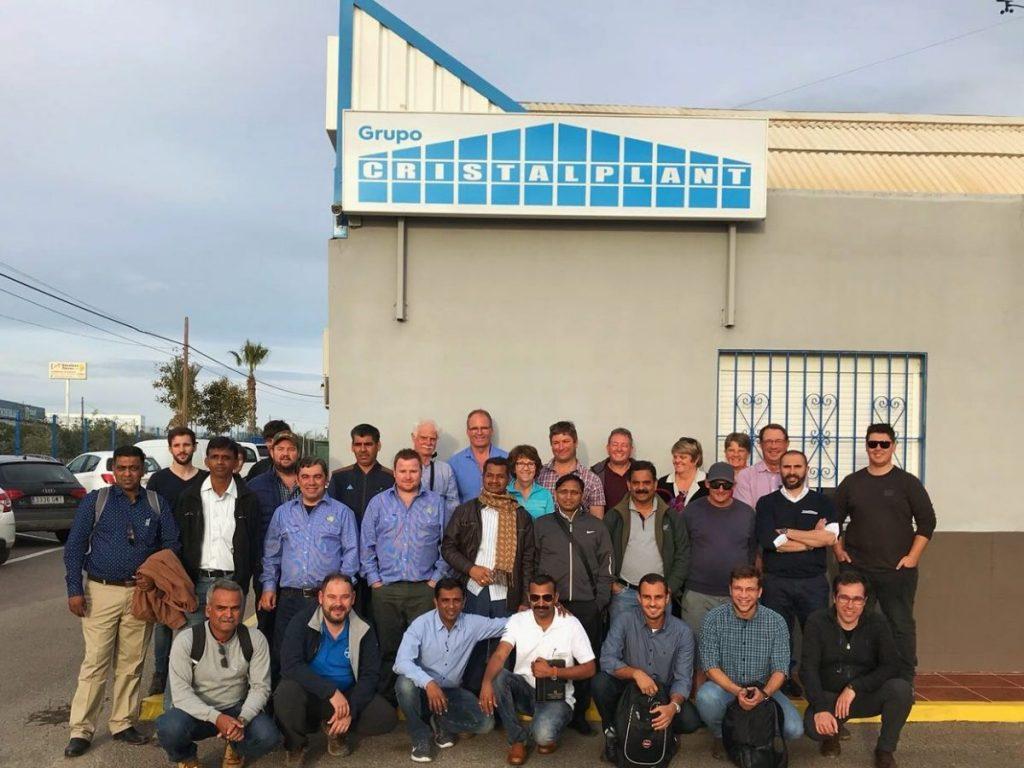 visita internacional semilleros grupo cristalplant almeria