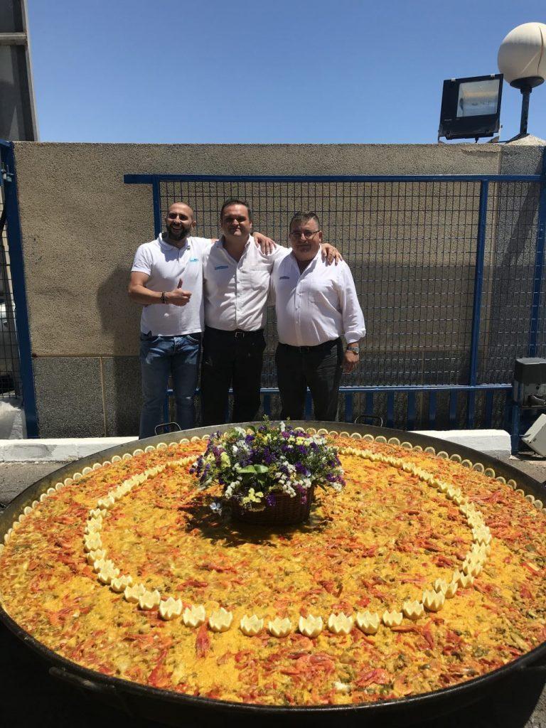 paella 25 aniversario grupo cristalplant